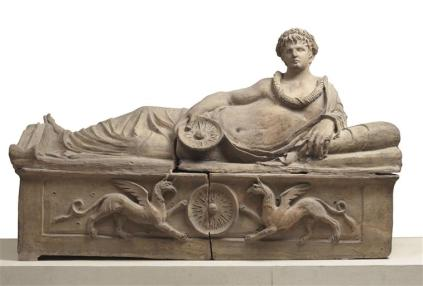 Sarcophage étrusque,3è s av J.-C., terre cuite,